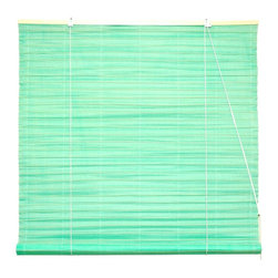 Oriental Unlimited - Shoji Paper Roll Up Blinds in Light Green (60 - Choose Size: 60 in. WideSoft and casual with an Asian inspired appeal, this Shoji rice paper roll up blind will be an appealing selection for your home's decor. Available in your choice of sizes, the blind will diffuse light without erasing it, keeping your home's interior spaces bright and airy. Shoji Paper Blinds are a wonderful accent to any room. They are not easy to find. Made of light green shoji rice paper. Easy to hang and operate. 24 in. W x 72 in. H. 36 in. W x 72 in. H. 48 in. W x 72 in. H. 60 in. W x 72 in. H. 72 in. W x 72 in. H