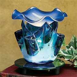 Artico - 4.75 Inch Blue Colored Marble Style Grain Tulip Electric Oil Burner - This gorgeous 4.75 Inch Blue Colored Marble Style Grain Tulip Electric Oil Burner has the finest details and highest quality you will find anywhere! 4.75 Inch Blue Colored Marble Style Grain Tulip Electric Oil Burner is truly remarkable.