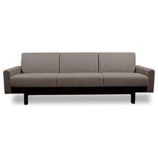 Modern Sofas Paddington Grey-Brown 3-Seat Sofa