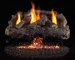 Real Fyre Charred Frontier Oak Vent Free Gas Log Set - The Real Fyre Charred Frontier Oak Vent Free Gas Log Set makes it easy to keep your favorite room cozy. This deluxe gas log set features a variable remote control that lets you not only turn it on and off but also adjust the BTU output. All from the comfort of your recliner. The logs are molded from ceramic and painted to mighty oak perfection. This gas log set is conveniently vent-free uses either natural gas or propane and provides a variety of BTUs for maximum warmth. This gas log set comes in your choice of size. Have a professional installer put in the exhaust system to ensure safety and makes things easy. Note: Vent-free products are not approved for use in Canada and some states. Please check your local codes regarding vent-free products. A licensed contractor should be contacted for installation of all products involving gas lines. About Real FyreReal Fyre understands more about the amazing things that happen when flame and good food meet. For the last 70 years they've set out to create the singularly best way to cook food outdoors using the highest-quality materials innovative design and an absolutely relentless pursuit of perfection. With a complete line of luxury-grade grills burners accessories and built-in grill island components Real Fyre is ready to turn your home into the world's best outdoor kitchen.