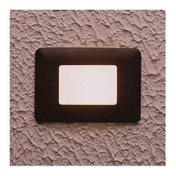 """Kichler - Architectural Bronze Acrylic Lens Step Light - This great idea puts the right light in exactly the right place. These versatile lights are ideal for lighting along paths, porch or patios, and near stairways to ensure safety and security while illuminating your landscape. Features: -Finish: Architectural Bronze -Shade or Diffuser: White Acrylic -Requires one bulb -Voltage: 12V -Maximum Wattage: 11.6W -Bulb Base: Wedge T5 -UL and/or CSA listed use: Suitable for Wet Locations -Dimensions: 3.5"""" H x 5"""" W About Kichler: Kichler Lighting is a four-time winner of the Arts Award as Lighting Manufacturer of the Year. The highest accolade our lighting industry can give. Today they are the leading decorative lighting fixture company in the world. Founded in 1938, Kichler remains a privately held, family owned and run business staffed by people who understand decorative home lighting fixtures and who care about their customers. Kichler has built their reputation on original, design-oriented, high quality lighting products at competitive prices, backed by the finest customer service in the industry. Helping to make your house a home is their job and our number one priority. They do this by providing their customers with the widest assortment of home lighting fixtures and home decor accessories in the industry. The Kichler family of brands offers lighting for every room in your home, designed to fit every pocketbook, offering choices to complement your lifestyle and tastes."""