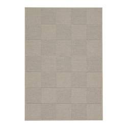 "Couristan - Tides Concord Rug 0088/4041 - 5'3"" x 7'6"" - Tastefully simple these durable, weather-defying area rugs are suitable for indoor and outdoor use. You'll love the way their warm, neutral color-schemes coordinate with today's most popular outdoor furniture pieces. Perfect for patio decks, kitchens and entryways the simplicity and practicality of each design offered in Tides will provide your setting of choice with an universal appeal."