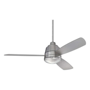 Savoy House - Savoy House Polaris Ceiling Fan in Satin Nickel - Savoy House Polaris Model SV-52-417-3SV-SN in Satin Nickel with Silver Finished Blades.