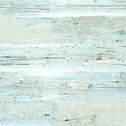 Walls Republic - Brushed Wood Wallpaper, Blue, Double Roll - Brushed wood wallpaper is the perfect narrative to weathered drift wood. The fresh color hues and soft pastels would complement the brushed wood pattern, giving your walls a beautifully contemporary look.