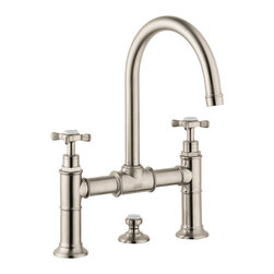 Axor Montreux Widespread Faucet with Cross Handles, Bridge Model - Product characteristics