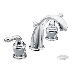 """Moen - Moen T4572 Chrome Bath Sink Faucet Trim Two Lever Handle 8""""-16"""" Center, ADA - Moen T4572 is part of the Monticello Bath collection. Moen T4572 is a new style bathroom lavatory, sink faucet trim. Moen T4572 has a Chrome finish. Moen T4572 two handle widespread lavatory faucet mounts in a 3-hole 8"""" - 16"""" Center sink, with 4 3/4"""" long and 5 15/16"""" high spout. Moen T4572 has Hydrolock quick connect system and includes a metal pop-up drain. Moen T4572 two handle widespread trim requires Moen's CA9000, or CA90000 valve to make this faucet complete. Moen T4572 is part of the Monticello bath collection with its simple beauty and elegant lines this collection brings a timeless design into any homes decor. Moen T4572 two lever handle provides ease of operation. Chrome is a proven finish from Moen and provides style and durability. Moen T4572 metal lever handle meets all requirements ofADA ICC/ANSI A117.1 and ASME A112.18.1/CSA B125.1, NSF 61/9 and proposition 6"""". Water Sense Certified. Lifetime limited Warranty."""