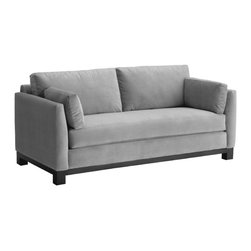 Apt2B - Avalon Sofa, Stone, 79x37x30 - With its sleek arms and solid wood base, this sofa gives you big style while making a smaller footprint on your floor space, your wallet and the environment. Its smooth, stain-resistant upholstery comes in a handful of soft, neutral colors, including a fab retro blue-green.