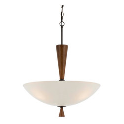 CAL Lighting - Cal Lighting FX-3528/1P 60W X 2 Verona Glass Pendant Fixture - CAL Lighting FX-3528/1P 60W x 2 Verona glass pendant fixture