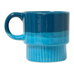 "Mod Mug - 3 1/2"" W x 3 1/2"" H - Painted ceramic, dishwasher safe."