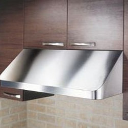 "Kobe - CH9142SQB-1 42"" Range Hood  with Sound Reduction  and Easy to Clean  18 Guage St - The CH-191SQB-1 under cabinet range hood comes with a six speed 760 CFM internal blower On the lowest speed setting this range hood produces a CFM of 300 with a sound level of only 1 sone This enables you to cook throughout the night without waking a..."