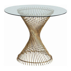 Arteriors Home - Arteriors Home Pascal Iron/Glass Entry Table - Arteriors Home 6568 - Arteriors Home 6568 - Round entry table with iron spokes spiraled in an hourglass shaped pedestal and topped with glass.
