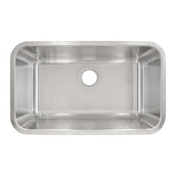 LessCare - Undermount Stainless Steel Single Bowl Kitchen Sink L107 - *Condition: New