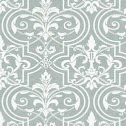 Wallpaper Worldwide - Forbes - Exotic Damask Wallpaper, Grey, Offwhite - Material: Non-woven.