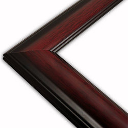 The Frame Guys - Wide Standard Mahogany, Grooved Edge Picture Frame-Solid Wood, 9x12 - *Wide Standard Mahogany, Grooved Edge Picture Frame-Solid Wood, 9x12