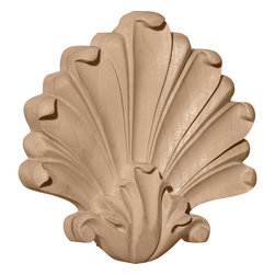 """Ekena Millwork - 5 1/2""""W x 5 1/2""""H x 1/2""""D Medium Foster Center, Cherry - 5 1/2""""W x 5 1/2""""H x 1/2""""D Medium Foster Center, Cherry. Our appliques and onlays are the perfect accent pieces to cabinetry, furniture, fireplace mantels, ceilings, and more. Each pattern is carefully crafted after traditional and historical designs. Each polyurethane piece is easily installed, just like wood pieces, with simple glues and finish nails. Another benefit of polyurethane is it will not rot or crack, and is impervious to insect manifestations. It comes to you factory primed and ready for your paint, faux finish, gel stain, marbleizing and more."""