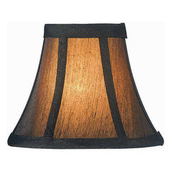 Lite Source - Black/Gold with White Liner Clip-On - Turn heads effortlessly by dressing up your lamps in this beautiful black shade with bronze threads interwoven into this beautiful candelabra shade. Watch as the light filters gently through the play of black and gold on the fabric in ways that you dont see in other shades. Complete with a spotless white silk lining, the candelabra shade was made to bring out the best in your lighting with its unique design.