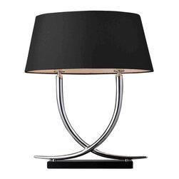 Dimond Lighting - Dimond Lighting D1486 Trump Home Park East Chrome and Black Table Lamp - Dimond Lighting D1486 Trump Home Park East Chrome and Black Table Lamp