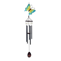 Great World - 43 Inch Multicolored Butterfly Large Top Poly Resin Wind Chime - This gorgeous 43 Inch Multicolored Butterfly Large Top Poly Resin Wind Chime has the finest details and highest quality you will find anywhere! 43 Inch Multicolored Butterfly Large Top Poly Resin Wind Chime is truly remarkable.