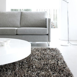 """Linie Design - Betona Steel Rug - All rugs are designed by leading Scandinavian designers and specialist weavers. These rugs are handmade in India by adult weavers, from selected natural raw materials, using authentic traditional craftsmanship. Features: -Technique: Woven.-Material: Blended wool and polyester.-Vacuum cleaning is usually enough to clean the rug..-The rug should occasionally be shaken or beaten with a carpet beater..-When required, the rug should be professionally flat washed..-Construction: Handmade.-Distressed: No.-Construction: Handmade.-Technique: Hand woven.-Primary Color: Blue.-Type of Backing: Cotton Canvas Backing.-Material: Wool and polyester.-Fringe: No.-Reversible: No.-Rug Pad Needed: Yes.-Water Repellent: No.-Mildew Resistant: No.-Stain Resistant: No.-Fade Resistant: No.-Swatch Available: Yes.-Eco-Friendly: Yes.-Outdoor Use: No.-Product Care: Vacuum, flat wash.-Country of Manufacture: India.Specifications: -CRI certified: No.-Goodweave certified: No.Dimensions: -Overall Product Weight (Rug Size: 5'7"""" x 7'9""""): 48 lbs.-Overall Product Weight (Rug Size: 6'6"""" x 9'8""""): 68 lbs."""