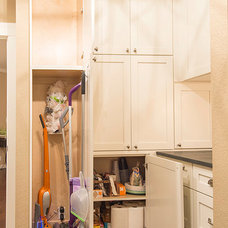 Transitional Laundry Room by Madison Custom Cabinets