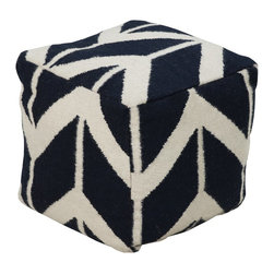 Jill Rosenwald - Jill Rosenwald POUF-217 Pouf - This square pouf has a distinctive and stylish pattern that is soon to be a conversation piece. Made in India with one hundred percent wool, this pouf is durable and priced right. With a fun and fresh pattern, these poufs make a simple, yet sophisticated statement in any room.