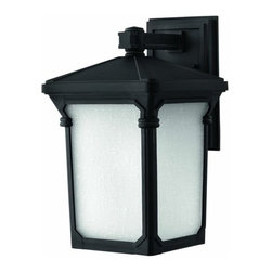 """Hinkley Lighting - Hinkley Lighting 1354-LED 16"""" Height LED Outdoor Lantern Wall Sconce in Museum B - 16"""" Height LED Outdoor Lantern Wall Sconce in Museum Black from the Stratford CollectionFeatures:"""