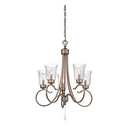 Kichler Lighting - Kichler Lighting Malina 5-Light Traditional Classic Chandelier X-GSRB83234 - Thin  Petite  Delicate. This 5 light chandelier from the Malina&trade: collection exudes classic, elegant style. Sweeping, curled arms and Clear Optic Rain Glass elevate this design, while the soft Brushed Silver and Gold finish adds a subtle accent that will effortlessly enhance any space.
