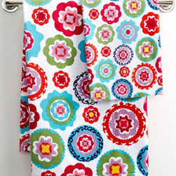 French Bull Suzani Bath Towel Collection - You've got to focus on your studies, so skip any big painting projects and add color with eye-popping accessories like these suzani bath towels.