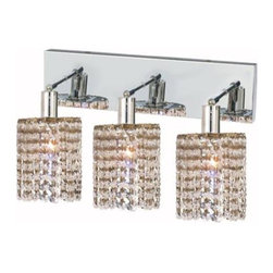 Lighting By Pecaso - Wiatt Wall Fixture Oblong Canopy D14.5x4.5 H13.5 Round Pendant Lt:3 Chrome - Extension 6, ChainWire Incuded  NA, Bulb Type GU10, Bulb Wattage 50, Max Wattage 150, Voltage 110V125V, Finish Chrome, UL  Ulc Standard  YES, UL  Ulc Standard  YES