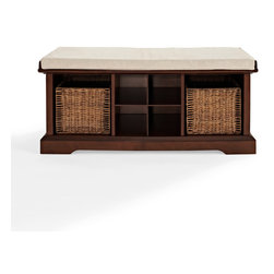 Crosley - Brennan Entryway Storage Bench - Dimensions:  45.8 x 19.5 x 10.2 inches
