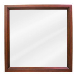 Hardware Resources - Lyn Design MIR038 Wood Mirror - Rather than going with the popular rectangle shape, or that oh-too-posh oval size that so many people like, this mirror is comfortable in being square.And you'll also appreciate its simple approach to decoration.