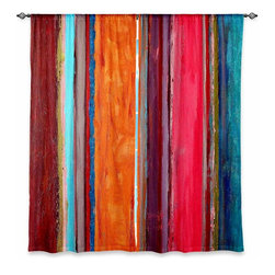 "DiaNoche Designs - Window Curtains Lined by Ruth Palmer Feel Good - Purchasing window curtains just got easier and better! Create a designer look to any of your living spaces with our decorative and unique ""Lined Window Curtains."" Perfect for the living room, dining room or bedroom, these artistic curtains are an easy and inexpensive way to add color and style when decorating your home.  This is a woven poly material that filters outside light and creates a privacy barrier.  Each package includes two easy-to-hang, 3 inch diameter pole-pocket curtain panels.  The width listed is the total measurement of the two panels.  Curtain rod sold separately. Easy care, machine wash cold, tumble dry low, iron low if needed.  Printed in the USA."
