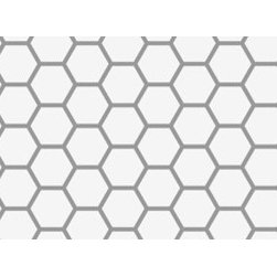 Stencil Ease - Hex Tile Border Stencil - The Hexagon Tile Border Stencil is designed to be reminiscent of the 1920's styles and designs. It is a staple of a traditional design from that era and is a simple and clean design to use anywhere you choose.
