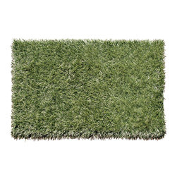 THE RUG MARKET - Grazin' in the Grass Area Rug - Do you love the feeling of grass between your toes? Now you can re-create the sensation without all the mess. This indoor/outdoor rug not only looks great, but is low maintenance. No mowing here — simply hose off to clean.