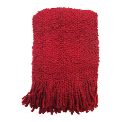 Kennebunk Home - Camelot Throw, Red - The throw that started it all back in 1980!  Camelot truly is the classic, the boucle throw that started the trend.  Camelot is a yarn story that is soft, light, and lofty. A gift that always pleases.
