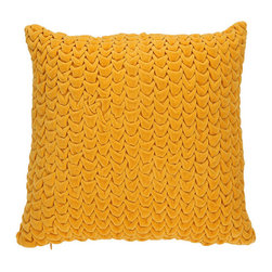 "Quilted Velvet Pillow - Quilted pillows are so fun, and this yellow one is definitely a ""must have"" on my list."