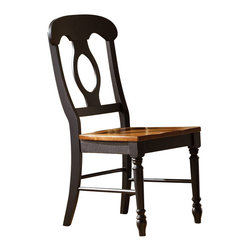 Liberty Furniture - Liberty Furniture Low Country Black Napoleon Back Side Chair (Set of 2) - Welcome the refreshing designs of the Low Country collection into your home. With the simple elegance of gracious turned legs and flowing curves, this collection is sure to make a sophisticated statement. This collection features gathering height, formal, and casual dining groups. Select hardwoods and cherry veneers are offered in a Anchor Black with Suntan Bronze accents. What's included: Side Chair (can only be purchased in sets of 2).