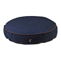 Bowsers Diamond Series Cotton Super Soft Round Dog Bed - Give your dog the luxurious comfort that it deserves with the Bowsers Super Soft Round Dog Bed laying out in style. The breathable microvelvet upholstery of this bed comes in denim and easily zips off to be machine washed. Its polyester-fiber fill cradles them in comfort as it forms to their shape. Choose from the following Sizes: Small: 28W x 5H inches Medium: 36W x 6H inches Large: 44W x 7H inches Extra Large: 52W x 8H inches