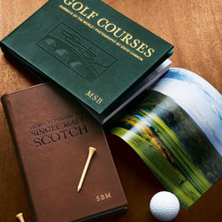 """Graphic Image - Graphic Image Golf Courses, Plain - Enjoy an extraordinary look at some of the world's most celebrated golf courses. For personalization in golden letters, specify up to three initials. Initials will print in First, Middle, Last order. 9.25"""" x 6.5"""". Printed in the USA. You will be able t..."""