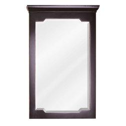 """Hardware Resources - Jeffrey Alexander Mirror - Aged Black - Mirror by Jeffrey Alexander. 22"""" x 34"""" Aged Black mirror with beveled glass . Corresponds with VAN093-24, VAN093-24-T, VAN093-30, VAN093-30-T, VAN093-36, VAN093-36-T"""