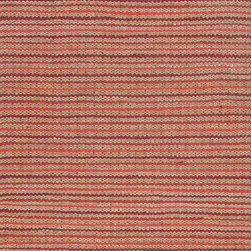 Jaipur Rugs - Naturals Stripe Pattern Cotton/ Jute Red/Taupe Area Rug ( 5X8 ) - The Andes collection is hand-woven with jute and recycled Chindi cotton fabric for touches of both color and a softer feel. Eco friendly and durable, these rugs fit in a variety of homes.