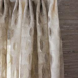 Custom Window Treatments by Lynn Chalk - Custom Sheer Drapes by Lynn Chalk in Weitzner Isis in Creme