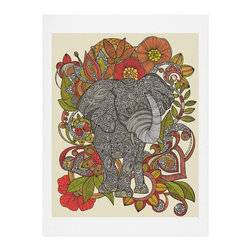 DENY Designs - DENY Designs Valentina Ramos Bo The Elephant Art Print - Finally an affordable wall art option! Order one statement print or live on the edge and dream up an entire gallery wall. And whether you frame it or hang it as-is, your walls will be big on inspiration while being kind on your pocketbook.