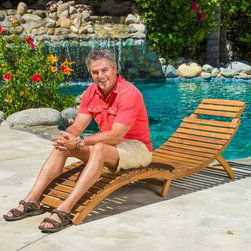 Christopher Knight Home Lahaina Wood Outdoor Chaise Lounge -