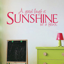 ColorfulHall Co., LTD - Wall Decals for Kids A Good Laugh is SUNSHINE In a House - Wall Decals for Kids A Good Laugh is SUNSHINE In a House