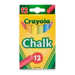 Crayola - Crayola Multi-Colored Children's Chalk (12-Count) - This package of 12 Assorted Color Art Chalk sticks is perfect for budding little artists that love being creative. A variety of brilliant, strong chalk pieces provide bright, consistent color for hours of drawing and coloring fun.