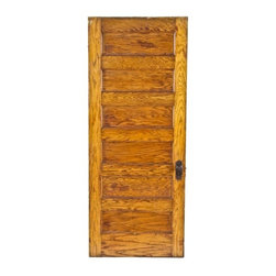 Interior and Exterior Doors - c. 1900's original and intact american interior residential varnished white oak wood six recessed panel door likely fabricated by the foster-munger co., chicago, il.