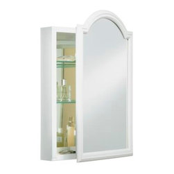 "KOHLER - KOHLER K-CB-CLW2030DAW White Enameled Aluminum Single-Door Medicine Cabinet - KOHLER K-CB-CLW2030DAW 20""W x 29-1/2""H x 5-1/4""D White Enameled Aluminum Single-Door Medicine Cabinet with Devonshire Mirrored Door"