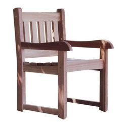 All Things Cedar - All Things Cedar AC22U Cedar Armchair - Stylish Outdoor Dining Chair  Easy To Get Into  Easy To Get Out Of      Dimensions:   26 x 32 x 36 in. (w x d x h)