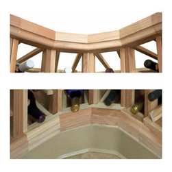 Wine Cellar Innovations - Designer Series Wine Rack - Curved Moldings - Crown and Base - Designer Series curved base and crown moldings are the final touches added to give your wine racking a finished look.